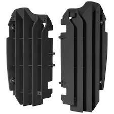 Шторки радиатора Kawasaki KX250F(13-16) OEM color черные ...