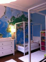 white furniture with giant world map wallpaper kids room boys room girls room boys room with white furniture