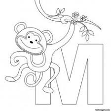 Small Picture Alphabet Coloring Pages Upper Lower case letters and Spanish