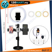 <b>2 In 1</b> Adjustable LED Ring <b>Fill Light</b> With Double Mobile Phone ...