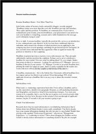 doc resume examples customer service manager strong resume headline examples