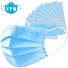 SUMGOTT <b>50Pcs Disposable</b> 3-Layer Protective Face <b>Masks</b> Mouth ...