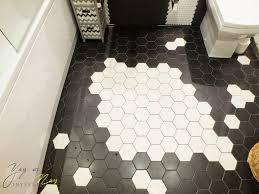 Hexagon Tile Floor Patterns Black And White Hexagon Tile Floor Black And White Hex Tilebest