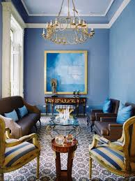 living room blue walls brown couch blue walls brown furniture