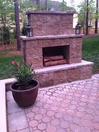 outdoor fireplace paver patio: life in the barbie dream house diy paver patio and outdoor fireplace reveal