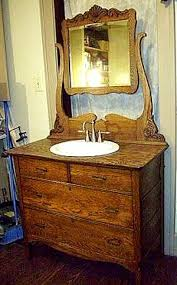 antique bathroom vanity using my hutch that i no longer have room for in the beautiful home furniture ideas vintage vanity