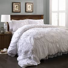 white bed sets queen amazoncom lush decor serena  piece comforter set queen white home amp