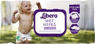 <b>Детские влажные салфетки Libero</b> Wet Wipes сменный блок 64 шт