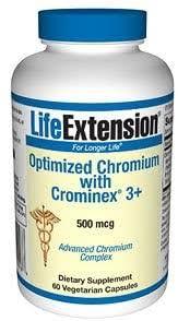 <b>Optimized Chromium with Crominex</b> 3 + 500 mcg, 60 Vegetarian ...