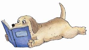 Image result for dog with stack of books clipart
