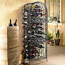 image of wine enthusiast renaissance wrought iron wine jail black mini bar home wrought