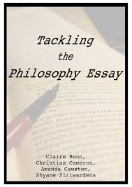 Tackling the Philosophy Essay  A Student Guide     Faculty of Philosophy Writing Skills overview page image