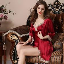 high grade silk robe twinset halter top night skirt summer sexy lace nightgown female ice silk home clothing loungewear