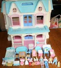 vintage retired fisher price toy dream dollhouse loving family furniture set lot ebay barbie doll house furniture sets