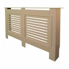 Radiator Cover Modern <b>White MDF</b> Wood <b>Wall Cabinet</b> Grill Large ...