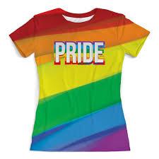"""Футболка с полной запечаткой (женская) """"Pride/Прайд"""" #2784415 ..."""