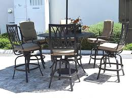 Outdoor <b>bar</b> set <b>7 piece</b> cast aluminum furniture Grand Tuscany 60 ...