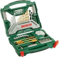 <b>Bosch 2607019329</b> Titanium Drill and Screwdriver Set, <b>70</b> Pieces ...