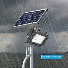 54 / <b>150 LED Solar Power</b> Flood Spot Light Outdoor Garden Yard ...