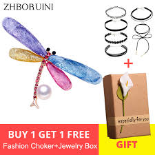 2019 Cheap Hair Jewelry <b>ZHBORUINI 2019 New</b> Natural Brooch ...