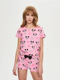 <b>Пижама</b> с шортами <b>Mickey Mouse</b> | Шорты, <b>Одежда</b> и Розовый