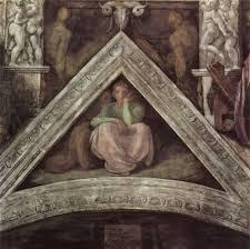 michelangelo s sistine chapel writework jesse spandrel before restoration