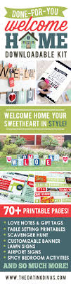 welcome home printable party kit welcome home kit