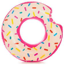 <b>Круг надувной пончик</b> INTEX 56265 Donut Tube 107см 9+: купить ...