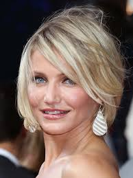 Carmen Diaz Goes Choppy. Get a fabulous textured bob with straight or slightly wavy hair by using some texturizing mist while hair is damp or on your 2nd ... - cameron-diaz-choppy-bob-haircut