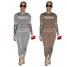 2019 F Letter Print Women <b>Tracksuit</b> Ladies <b>Casual Matching</b> Outfits ...
