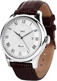 <b>Men's</b> Quartz Wrist <b>Watch</b>, Waterproof Roman Numeral <b>Business</b>