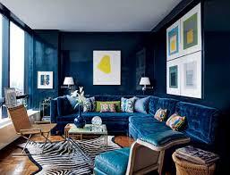 room navy interior blue roundup