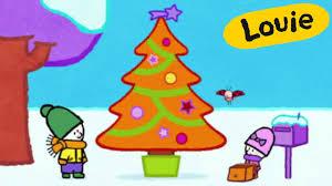 Christmas <b>Cartoon</b> - Louie draw me a <b>Christmas tree</b> | Learn to draw ...