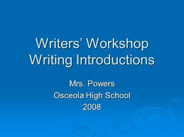informative essay using the surprise reversal strategy professor    writers workshop writing introductions mrs  powers osceola high school