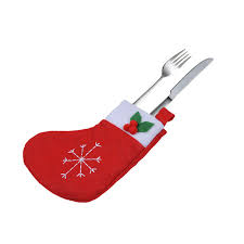 household dining table set christmas snowman knife: pcs christmas stocking cutlery bag xmas wedding party birthday gift dinner tableware set pouch festival dining