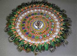 Image result for peacock aarti plates