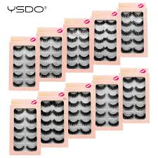 <b>YSDO 5 pairs</b> eyelashes 3d faux mink lashes natural eyelashes ...