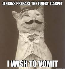 jenkins prepare the finest carpet i wish to vomit - Fancy Cat ... via Relatably.com