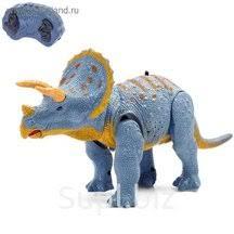 """<b>Динозавр радиоуправляемый</b> """"Трицератопс"""", световые и ..."""