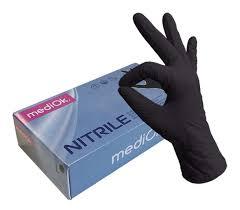<b>MediOk Перчатки нитриловые неопудренные</b> черные (50 пар/уп ...