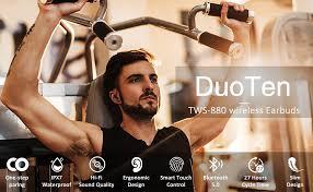 Bluetooth 5.0 Wireless Headphones, DuoTen IPX7 ... - Amazon.com