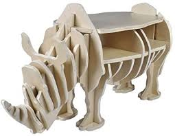 New <b>Wooden Rhino Home Decor</b> Book Shelf Organiser Side Table ...