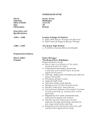 therapist job description for resume com cv for a beautician beautician cv template cv