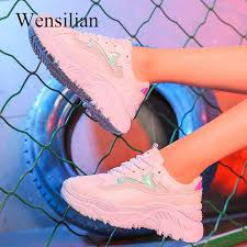 Fashion Sneakers For <b>Women</b> Trainers Platform White Sneakers ...