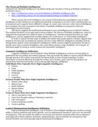 informative speech assignmentmultiple intelligences essay   mr  martin`s th grade language arts
