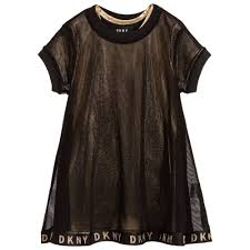 DKNY - <b>2 Piece Black</b> & Gold Dress   Childrensalon