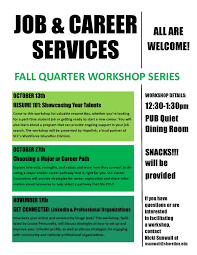 reminder tell your students choosing a major or career path choosing a major or career path workshop tues oct 27 day at a glance