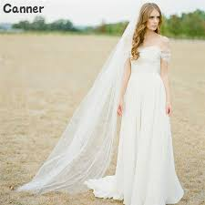 Super Deal #ea76 - Canner 2M White/Ivory Wedding Veil One-<b>layer</b> ...