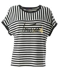 <b>Trussardi Jeans</b> -<b>Woman</b> Printed T-shirt Black and White Trend ...