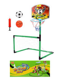 <b>Набор 2 в</b> 1 Футбол + Баскетбол, ворота 96*71*37 см, щит с ...